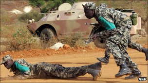 Ecowas soldiers training in Senegal in 2007