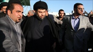 Moqtada Sadr in Najaf, Iraq (6 Jan 2011)