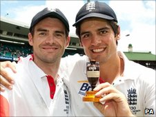 James Anderson and Alastair Cook