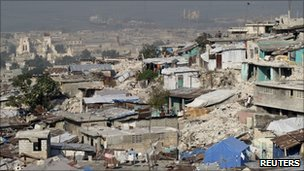 The destroyed neighbourhood of Fort-Liberte in Port-au-Prince