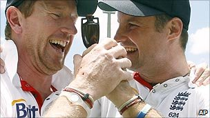 Paul Collingwood and Andrew Strauss