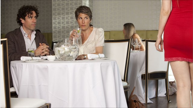 Stephen Mangan and Tamsin Greig