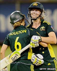 Leah Poulton and Meg Lanning