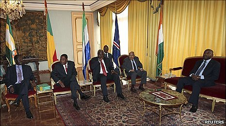 A delegation of African leaders visit the presidential palace