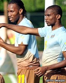 Didier Drogba and Samuel Eto'o