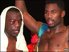 Gary Mason and Lennox Lewis