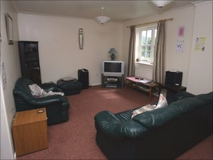 Inside a male safe-house in Wales