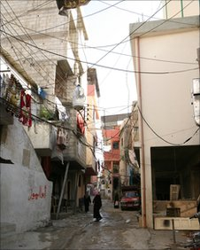 Palestinian refugee camp in northern Lebanon