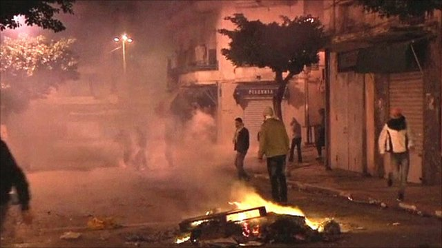 Rioting in Algiers