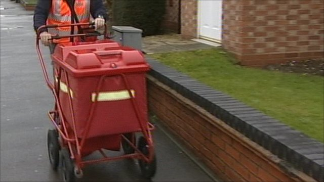New trolleys used by Royal Mail