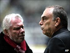 David Gold (left) and Avram Grant