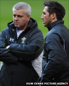 Warren Gatland and Gavin Henson