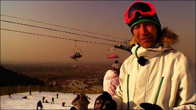 Ed Leigh in China as Ski Sunday returns