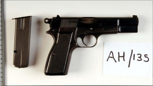 A gun used in the murder of PC Patrick Dunne
