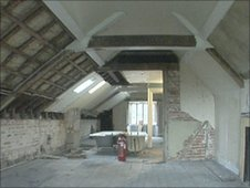 Farringford house attic