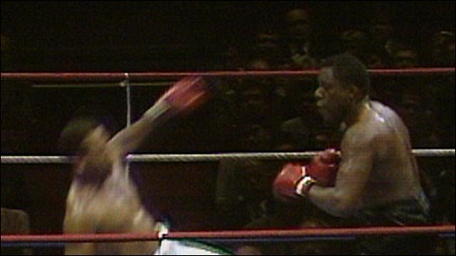 Former British champion Gary Mason in knockout action