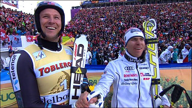 Norway's Aksel Lund Svindal and France's Cyprien Richard