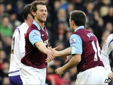 Jonathan Spector (left) and Mark Noble