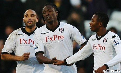 Diomansy Kamara, Dickson Etuhu and John Pantsil