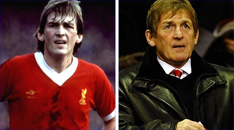 Liverpool legend Kenny Dalglish, then and now