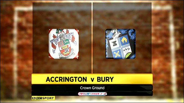 Accrington Stanley 1-0 Bury