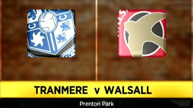 Tranmere 3-3 Walsall