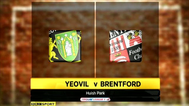 Yeovil 2-0 Brentford