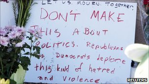 Many in Tucson say the gunman's actions had nothing to do with the country's politics