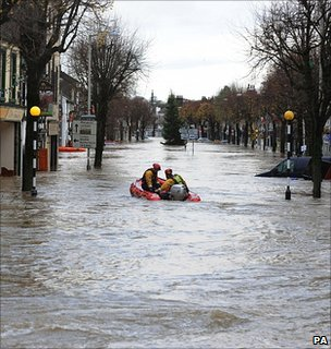 Flooded High Street in Cockermouth, Cumbria, November 2009 (Image: PA)
