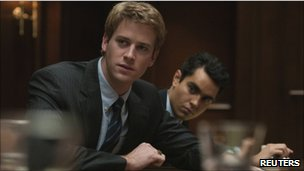 a scene from the film The Social Network