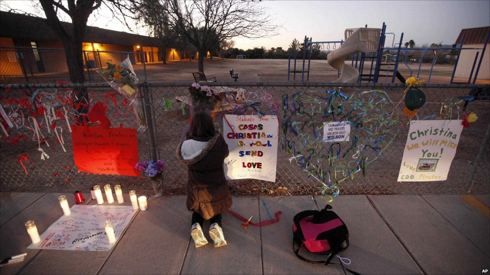 BBC News - In pictures: America mourns Arizona victims