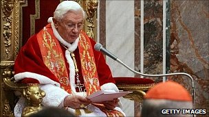 Pope Benedict addresses ambassadors at the Vatican. 10 Jan 2011