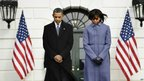 President Barack Obama and First Lady Michelle Obama at the White House