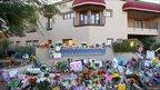 An impromptu shrine at Congresswoman Gabrielle Giffords' office in Arizona