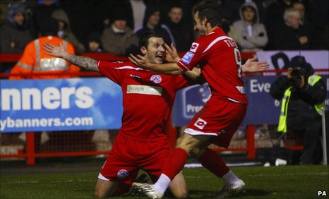 Craig McAllister opened the scoring for Crawley