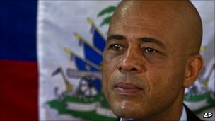 Michel Martelly on 14 December 2010