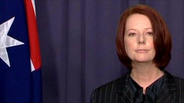Australia's prime minister, Julia Gillard