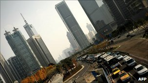 China gridlocked cars