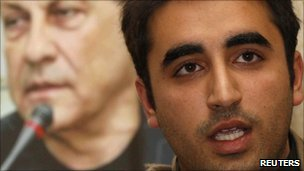 Bilawal Bhutto speaks at a memorial service for Salman Taseer at the Pakistan High Commission in London on 10 January 2011