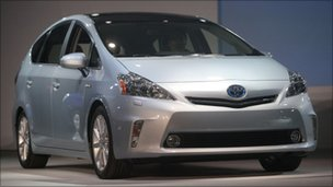 The new Toyota Prius V Hybrid vehicle
