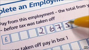 Person filling in a Self-Assessment Form Tax Return