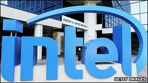 Intel sign outside building