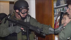 Elian Gonzalez seized by US federal agents on 22 April 2000 