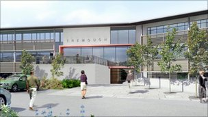 Artist&#039;s impression of Tremough Innovation Centre