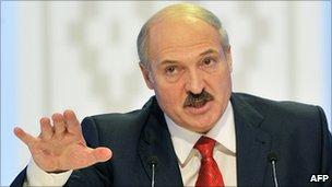 Belarus President Alexander Lukashenko, 20 Dec 10