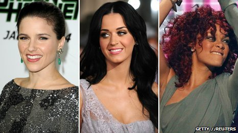 Sophia Bush, Katy Perry and Rihanna