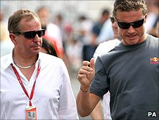 Martin Brundle and David Coulthard