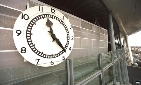 The original clock from the Clock End at Highbury adorning the Emirates Stadium