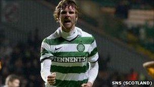 Celtic winger Paddy McCourt