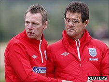 Stuart Pearce (left) and Fabio Capello
